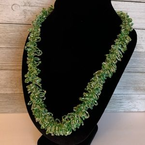 Delicate Seed Bead Statement Necklace